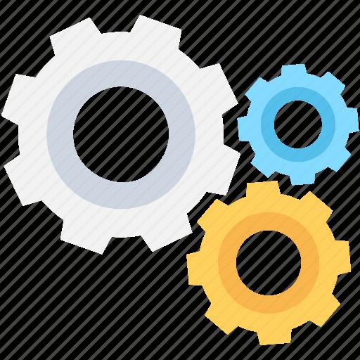 cogs, cogwheel, gears, options, setting icon