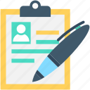 cv, editing, pen, resume, resume writing icon