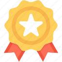 award, award badge, award ribbon, badge, star badge icon