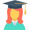 graduate, graduate student, postgraduate, student, university student icon