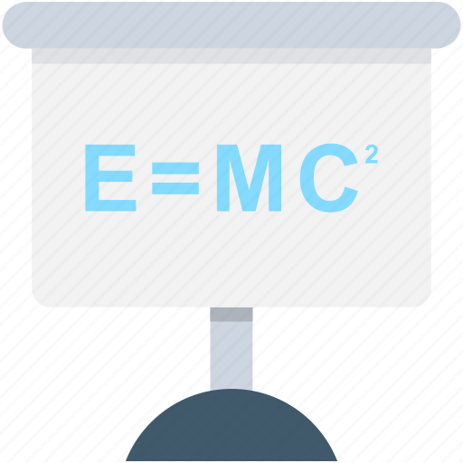 einstein formula, emc2, formula, physics, science formula icon