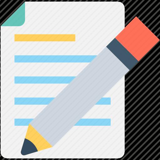 compose, edit, paper, pencil, writing icon