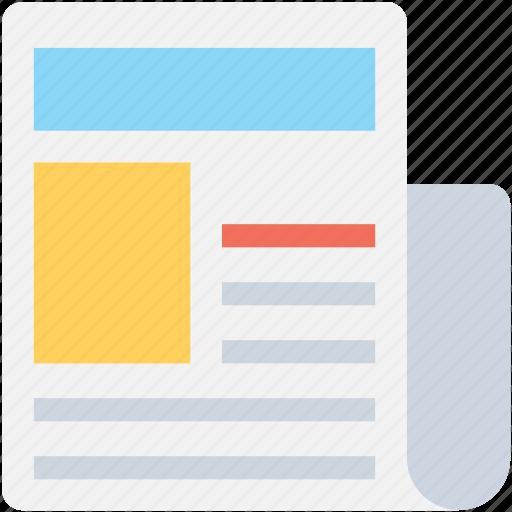 communication, media, news, newspaper, paper icon