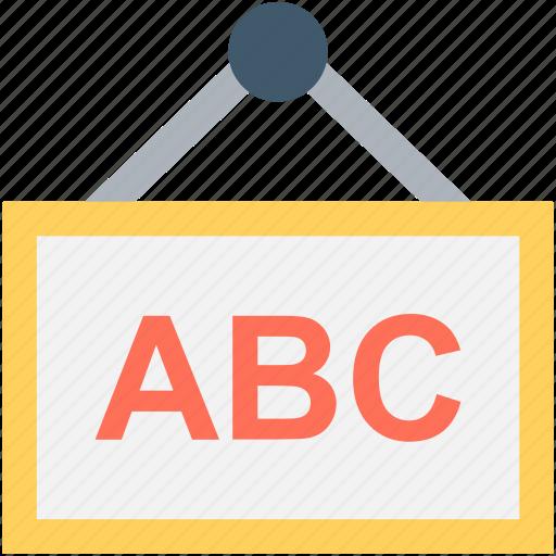 abc, alphabets chart, alphabets poster, english, kindergarten icon