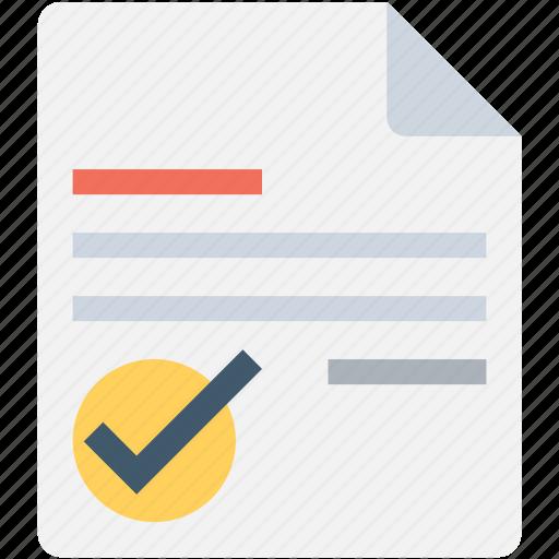 checklist, checkmark, memo, task complete, verified document icon