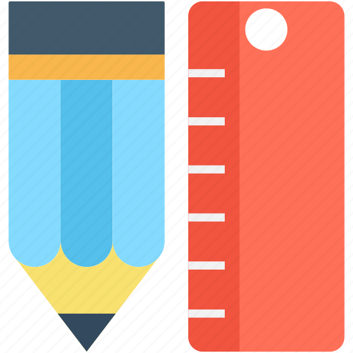 drafting, geometry tools, pencil, ruler, scale icon