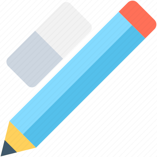 eraser, pencil, rubber, stationery, writing icon