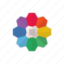 color, color pallet, element, rainbow icon