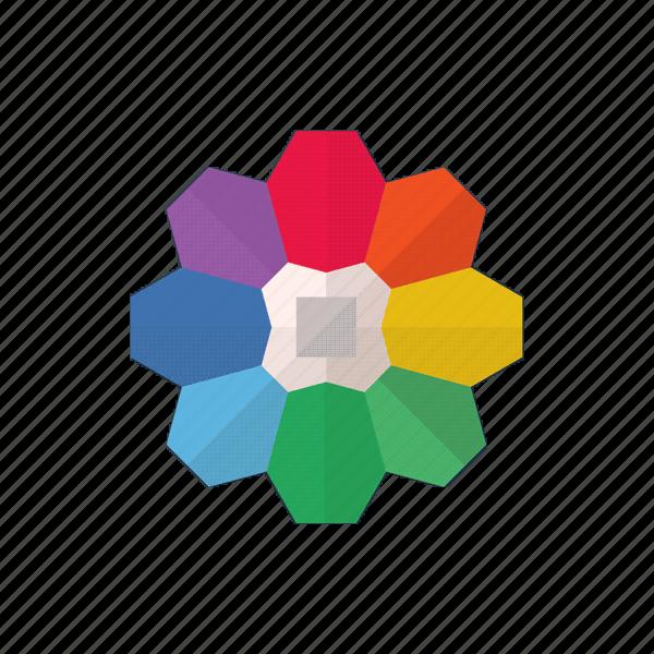 color, color pallet, element, rainbow icon