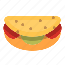 bread, burger, fast food, food, meal, sandwich, taco icon