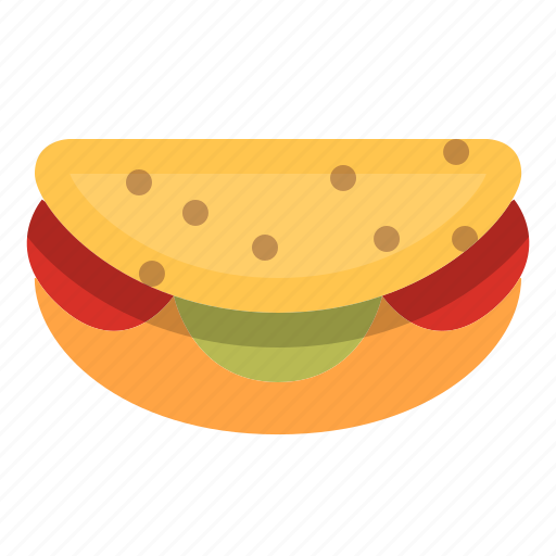Bread, burger, fast food, food, meal, sandwich, taco icon - Download on Iconfinder