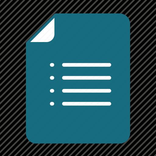 doc, doc list, list, txt icon