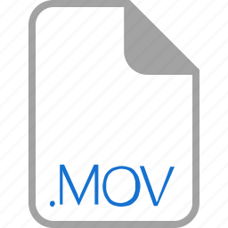 extension, file, filetype, format, mov icon