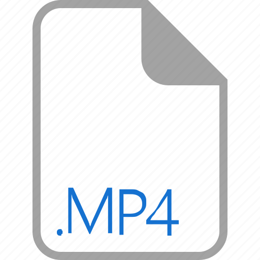 extension, file, filetype, format, mp4 icon