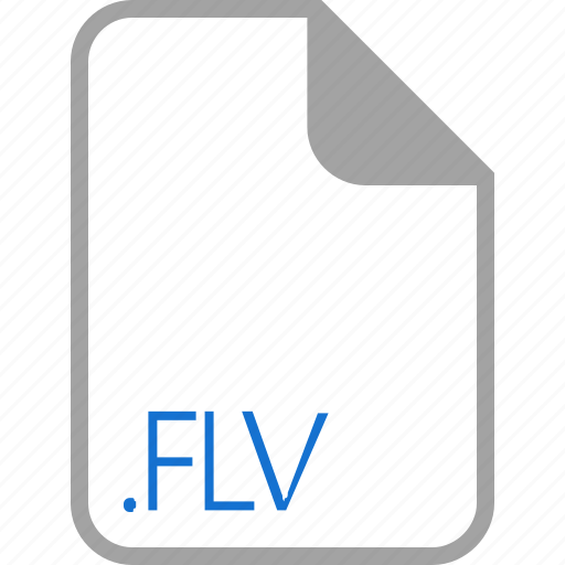 extension, file, filetype, flv, format icon