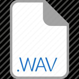 extension, file, filetype, format, wav icon