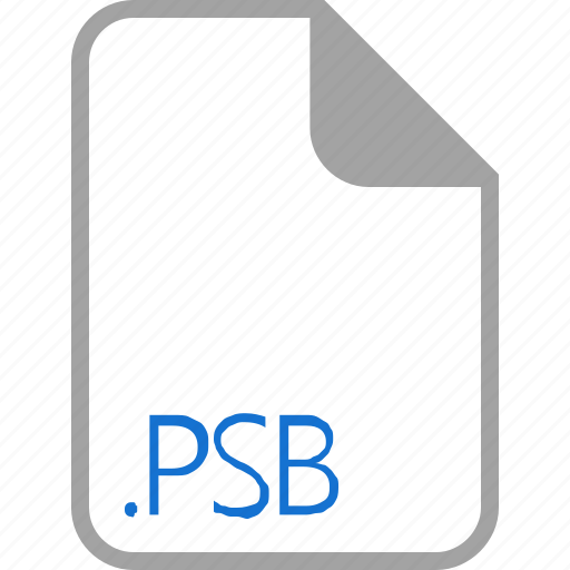 extension, file, filetype, format, psb icon
