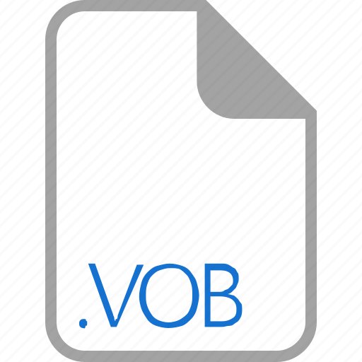 extension, file, filetype, format, vob icon