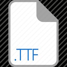 extension, file, filetype, format, ttf icon