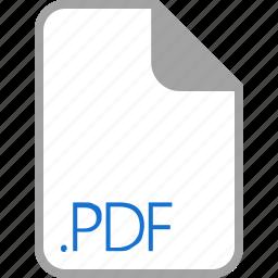 extension, file, filetype, format, pdf icon