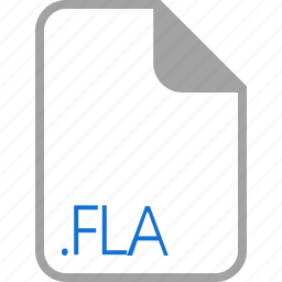 extension, file, filetype, fla, format icon