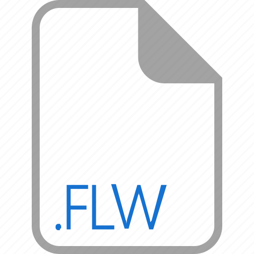 extension, file, filetype, flw, format icon