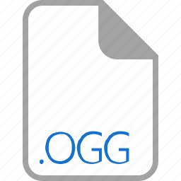 extension, file, filetype, format, ogg icon