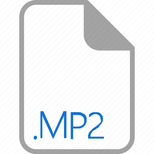 extension, file, filetype, format, mp2 icon