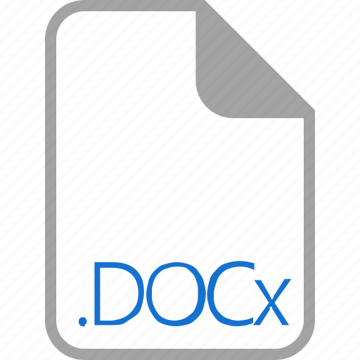 docx, extension, file, filetype, format icon