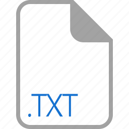 extension, file, filetype, format, txt icon