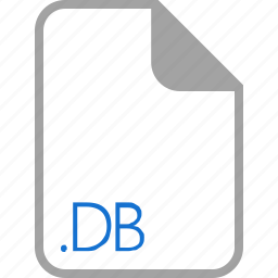 db, extension, file, filetype, format icon