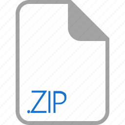extension, file, filetype, format, zip icon