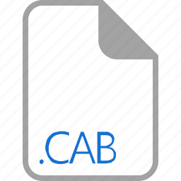 cab, extension, file, filetype, format icon