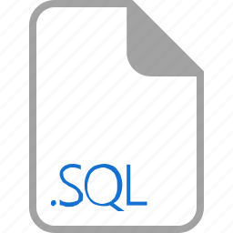 extension, file, filetype, format, sql icon