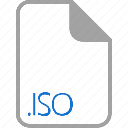 extension, file, filetype, format, iso icon