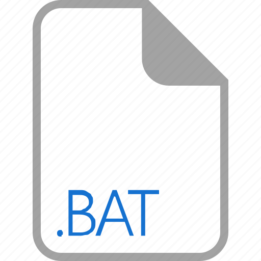 bat, extension, file, filetype, format icon