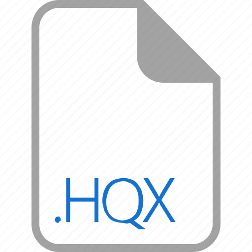 extension, file, filetype, format, hqx icon