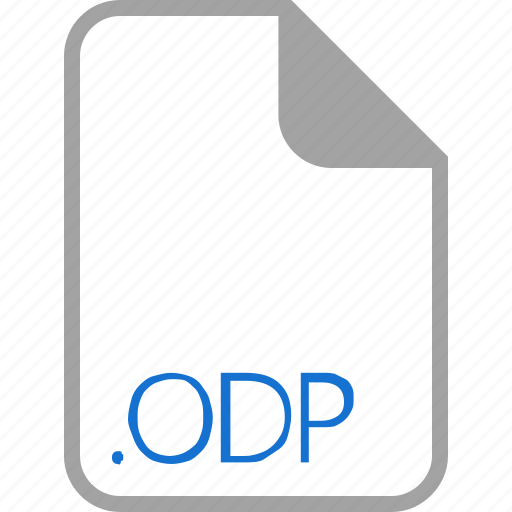 extension, file, filetype, format, odp icon