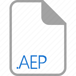 aep, extension, file, filetype, format icon