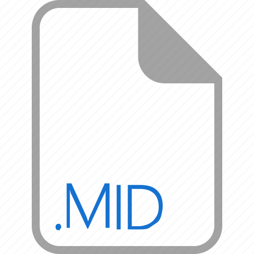 extension, file, filetype, format, mid icon