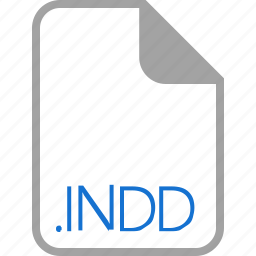 extension, file, filetype, format, indd icon