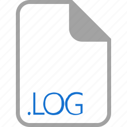 extension, file, filetype, format, log icon