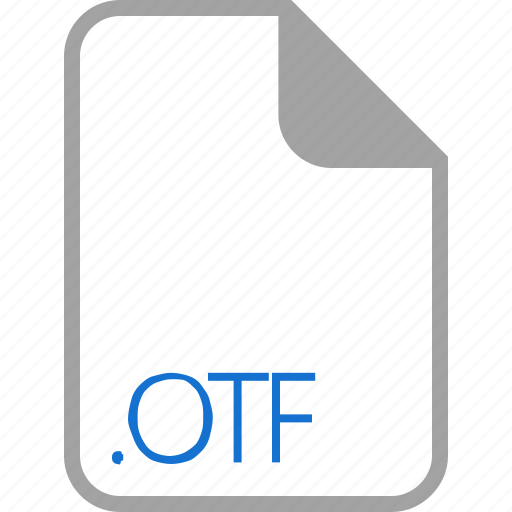 extension, file, filetype, format, otf icon