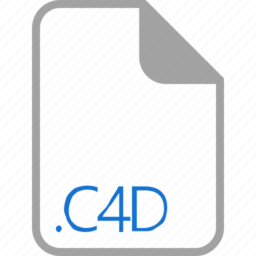 c4d, extension, file, filetype, formar icon