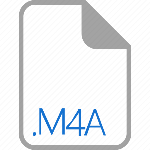 extension, file, filetype, format, m4a icon