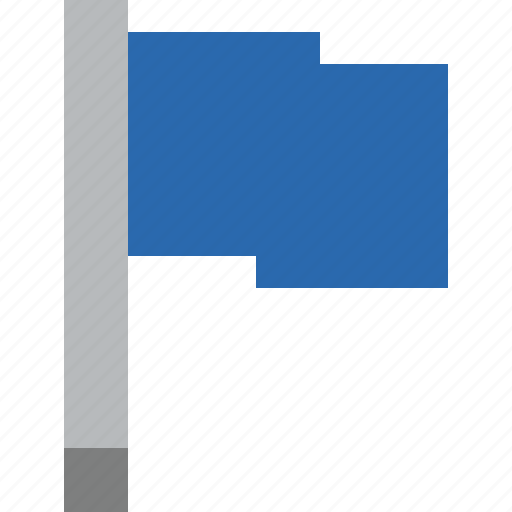 blue, flag, location, marker, pin, point icon