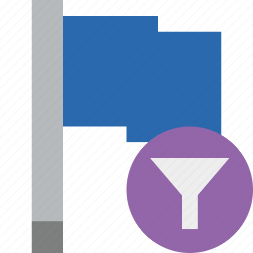blue, filter, flag, location, marker, pin, point icon
