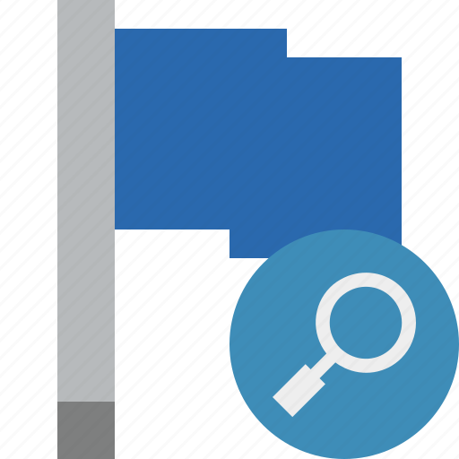 blue, flag, location, marker, pin, point, search icon