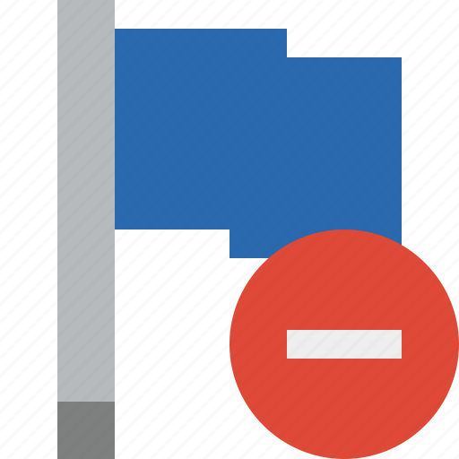 blue, flag, location, marker, pin, point, stop icon