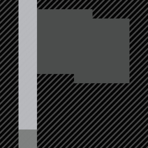 dark, flag, location, marker, pin, point icon